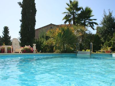 Photo for Very Nice T2 in a private villa with pool and garden