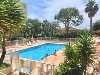 Photo for Studio close sea in peace with terrace and splendid swimming pool