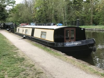 Photo for Pendragon Wide-beam Canal Boat for Self-Drive Holiday-Hire