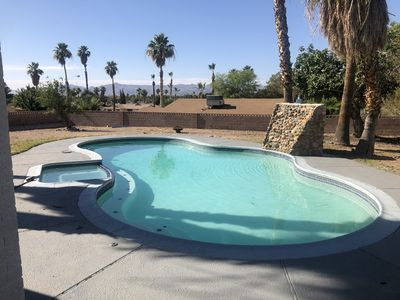 """Photo for 4 bedroom vacation home w 85"""" Smart Sanyo TV w heated Pool & Jacuzzi"""