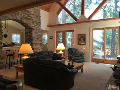 Photo for Beautiful Custom Cabin in Pinetop CC 3 BR, 2 Lofts, 3-1/2 BA, 35' Deck, Private!
