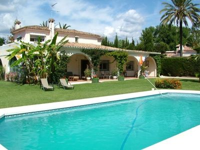 Photo for Lovely 4 bedroom villa, only 300m from the beach with private pool