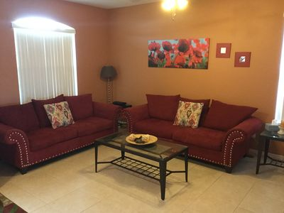 Living Room with new couches