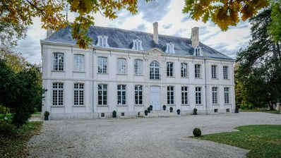 Photo for 18th century chateau with superb park and swimming pool