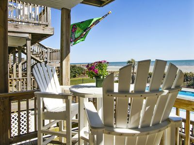 Photo for Charming Ocean front Condo/ New SWIMMING POOL, Voted 'Best Family Beach'