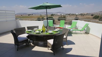 Soak up the sun and enjoy stunning views from terrace