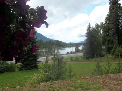 View of Clark Fork River from front porch in Summer.