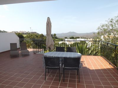 Photo for Beautiful mountain views from large terrace in luxury apartment