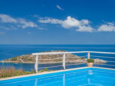Photo for ORFOS BEAUTIFUL VILLAS WITH PRIVATE POOL AND FANTASTIC SEA VIEW-SLEEP 6