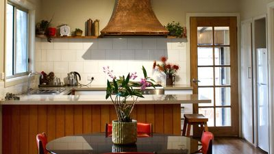 Lots of natural light in the kitchen.