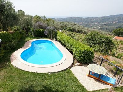 Photo for Casa Canelli. Sea view, swimming pool, 3 bedrooms, 2 bathrooms.