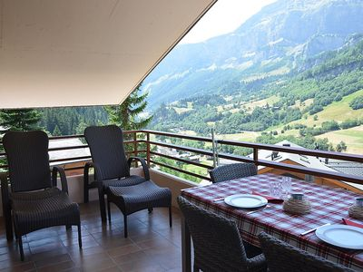 Photo for Apartment in the center of Leukerbad with Lift, Parking, Internet, Washing machine (46137)