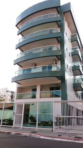 Photo for comfortable apartment with air conditioning, 2 blocks from Praia do Forte!