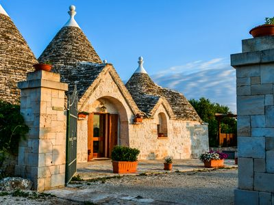 Photo for Il trullo del Mirto, splendid villa with private swimming pool a few km from the sea