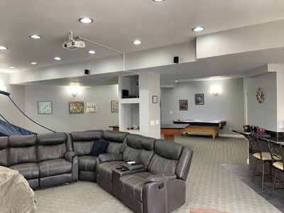 Photo for The Rec Room with game tables, theater, hot tub and more!