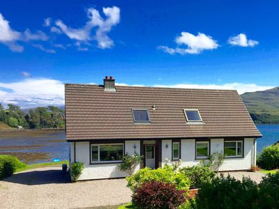 Photo for Lovely sea and mountain views, spacious Portree home
