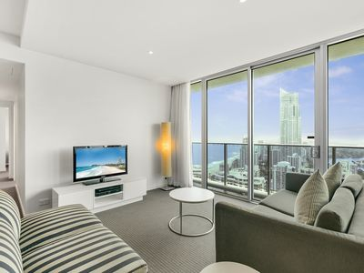 Located on the 40th level, Apartment 24105 offers fantastic ocean views.