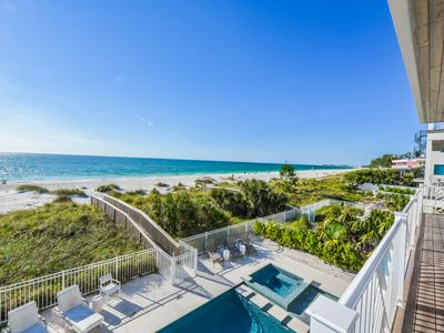 Photo for Stunning BEACHFRONT home! private Pool and Spa, beach access!