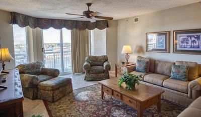 Photo for Barefoot Resort North Tower Unit 1104! 3BR/ Great Waterway Views/Large Pool/Shopping at Barefoot Landing very close. Book your get-away today!