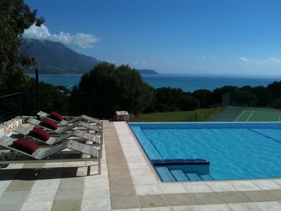 Photo for Special villa with beautiful views, pool and tennis court