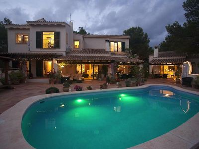 Photo for Stunning, traditional, private Port Andratx villa with sea views