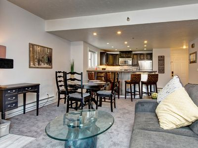 Photo for Snowblaze Lodge 1BR Condo - Car-Free Location Steps from PCMR, Hot Tub, Pool