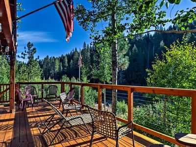 Photo for Rustic Riverfront Truckee Cabin w/Deck & View!