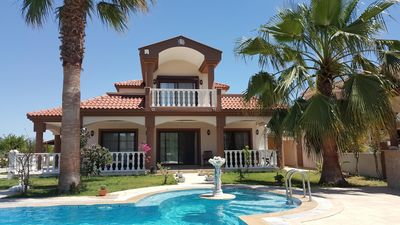 Photo for Luxury villa 220sqm salt water 80sqm pool garden 2300sqm