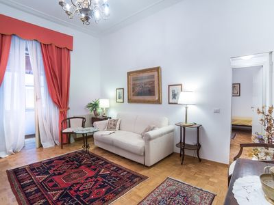 Photo for Elegant apartment in the heart of the Dolce Vita street
