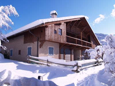 Photo for Rent charming apartment in Megève, 7 pers