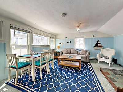 Photo for Coastal Cottage w/ Enclosed Front Porch, Pond View – By Beach & Bike Path