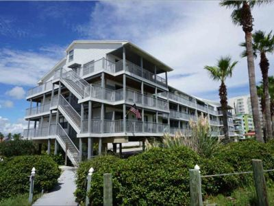 Photo for Beach Side Gulf View 100 Feet from the Sand! Three Bedroom, Two Bathroom