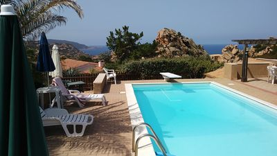 Photo for A Costa Paradiso: two-room apartment for 2/3 people with swimming pool between granite and sea