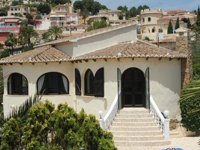 Photo for Mediterranean villa on the beautiful Cumbre de Sol with sea