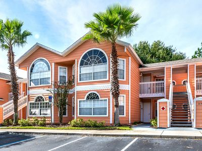 Photo for Dog-friendly open concept condo with shared pool and game room, near Disney!