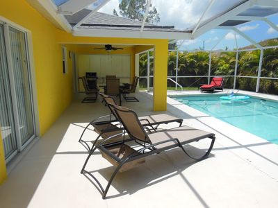 Photo for Very well appointed villa with large, solar heated pool.