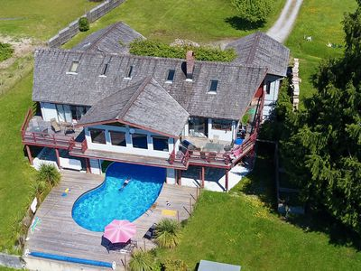 Photo for Beautiful Ocean View Villa with Pool on Cortes Island - Sleeps 16