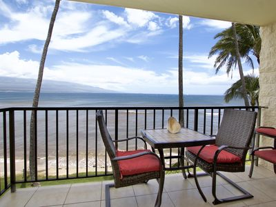 Photo for Kanai A Nalu unit 302 Oceanfront ocean view!  Quiet home listen to the sounds of the sea