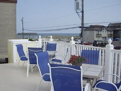 UPSTAIRS PATIO DECK WITH OCEAN VIEW