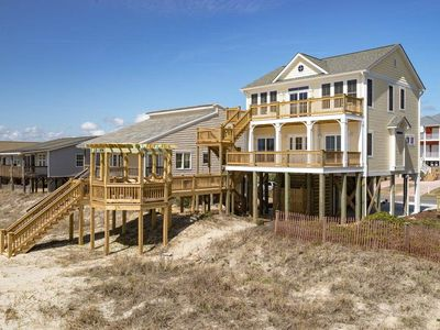 Photo for My Three Suns: 5 Bed/3.5 Bath Oceanfront House with Reverse Floor Plan, Deck and Gazebo