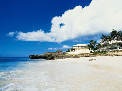 View at the Inchcape villas and Silver Sands Beach