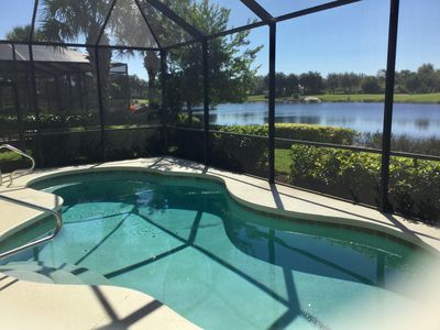 Photo for Three bedroom 3 bath home with sunset view of lake and golf course.