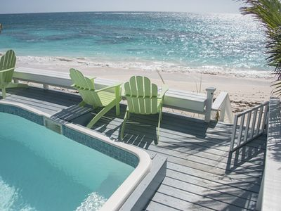 Photo for 3 bedrooms on PINK sand beach with pool~ Hope Town, Bahamas
