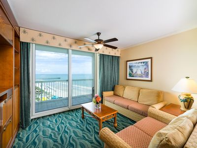 Photo for Oceanview Condo Steps from Beach & Family Kingdom w/ Resort Pool & Lazy River