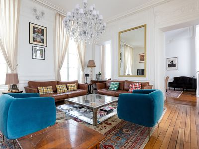 Photo for STEPS FROM OPÉRA & GALERIES LAFAYETTE -STUNNING & SPACIOUS 2 BR 2BA FLAT