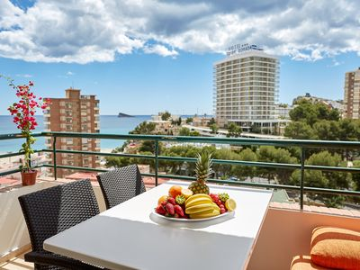 Photo for Superior Sea-View Apartments in Benidorm, 3 min to the beach, 2 bedroom, balcony