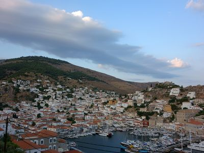 Photo for An artistic, independent, cozy apt with panramic view to Hydra island.