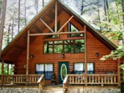 Photo for Black Bear Lodge is a two story cabin located in the heart of Hochatown close to