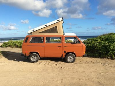 Photo for Oahu Camper Van for Hire. See Hawaii your way in a Classic VW pop top Camper Van