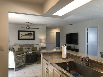 Open kitchen into living room